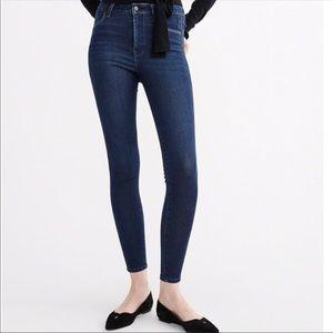 A&F ultra skinny high rise jeans waist long 2